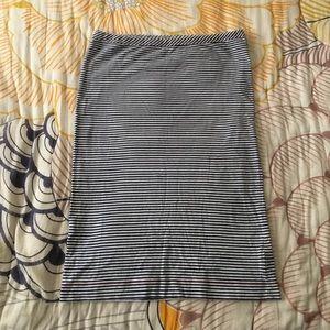 Orla Kiely sailor stripe knit pencil skirt.