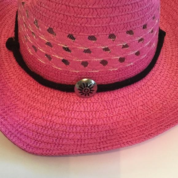 Boutique Accessories - Pink Straw Cwoboy Hat, NWOT