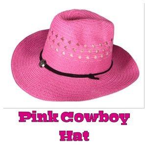 Pink Straw Cwoboy Hat, NWOT