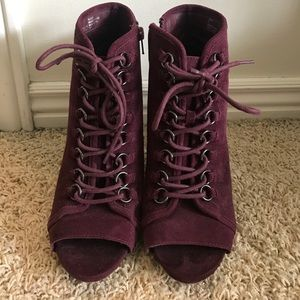 Steve Madden Shoes - Maroon Steve Madden Heels