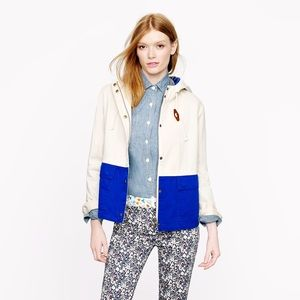 Used, J. Crew Color Blocked Sail Cotton Jacket for sale