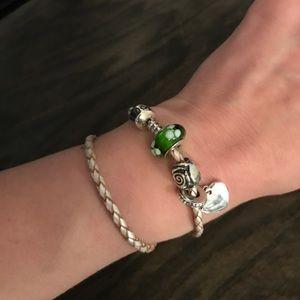 Pandora Jewelry - Pandora pink leather wrap bracelet