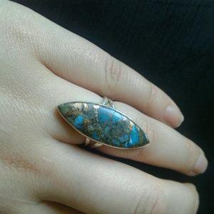 Boho Ithaca Peak turquoise sterling ring