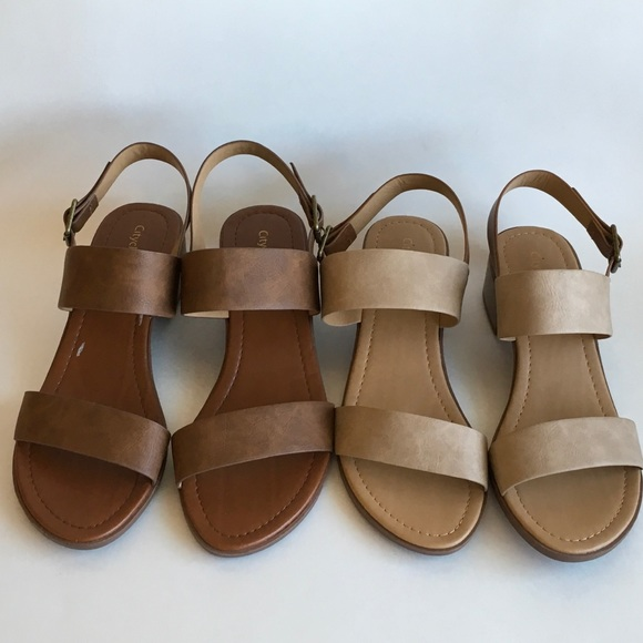 da5c8d5b127 City Classified Shoes - 2 Pairs City Classified Strappy Sandals Size 11 M