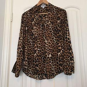 Express portofino leopard shirt