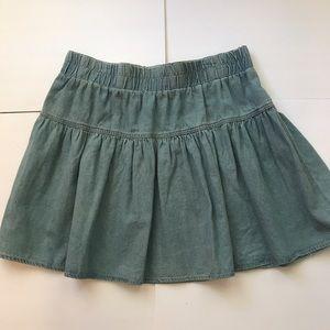 Adam Levine Collection Dresses & Skirts - 💙Light blue chambray mini skirt 💙