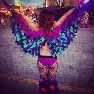 Tops | Led Glow Bra Edc Owl El Wire Richmahoganylife Rave | Poshmark