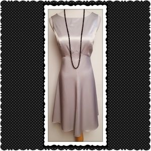 Kay Unger Silver Cocktail Dress