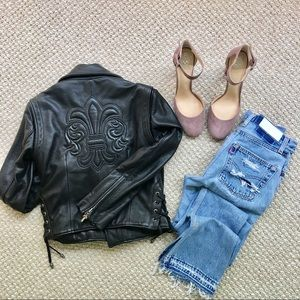 Chrome Hearts Jackets & Blazers - Chrome Hearts Rare Fleur De Lis Leather Jacket