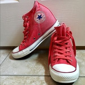 Converse wedge lux sneaker vintage red 8 Chucks