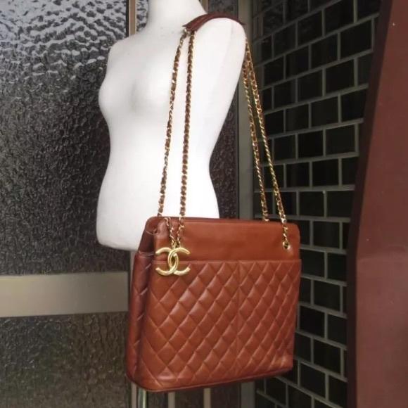 b3d8d90a57af2 CHANEL Handbags - Chanel Quilted brown XL Shoulder Bag