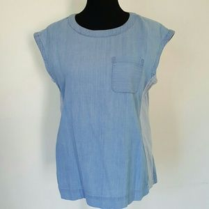 Lou & Grey Tops - Lou & Grey Denim Pullover Top Size Small