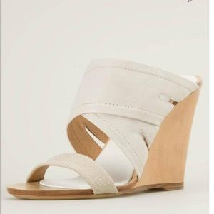 Rag & Bone Leather Wedge Mule Sandal