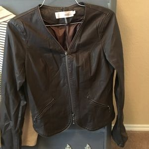 Miilla Clothing Jackets & Blazers - brown leather jacket