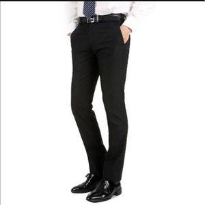 Express men's flat front black pants sz 32X30