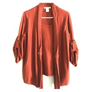😍rusty orange blouse😍