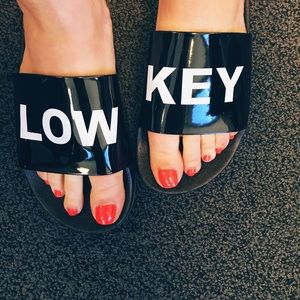 Boutique Shoes - Low Key Slides