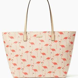 kate spade Handbags - NWT Kate Spade Signature Flamingo Tote