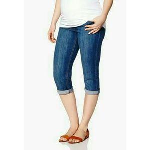 Thyme Maternity Capris Denim Jeans Size xl