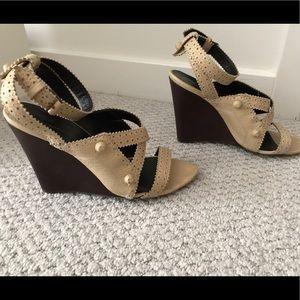 Balenciaga Shoes - Balenciaga Nude City Wedges 40.5