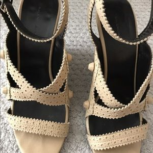 Balenciaga Shoes - Balenciaga Nude City Wedges 40.5