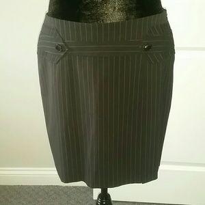 ADRIENNE VITTADINI Striped Suit Pencil Skirt
