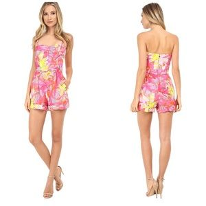 Trina Turk Pants - Trina Turk Tropical Floral Pink Romper