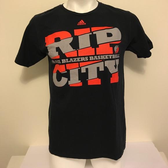 Portland Trail Blazers rip city adidas tshirt