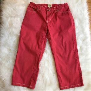 Izod Pants - Izod Light Red Relaxed Crop Pants Sz 4
