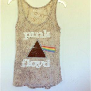 Pink Floyd Tie Dye tank top