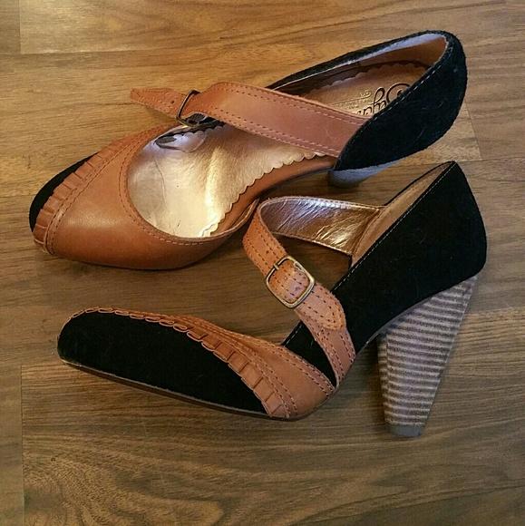 683df4c3afba Anthropologie Seychelles mary janes heels. M 591f48ffd14d7b533c036976