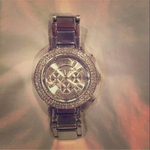 Accessories - Michael Kors silver bling watch