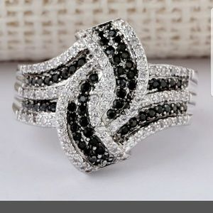 Jewelry - Black and White Sapphires