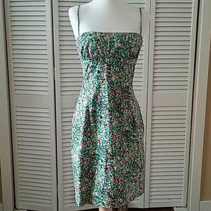 1990s Vintage Floral print sun dress