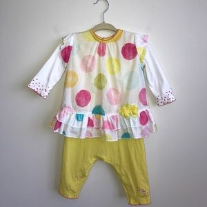 Catimini Other - Catimini baby yellow one piece size 9 month pink