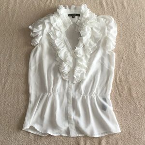 Love Stitch Tops - Love Stitch -  White Polyester Top