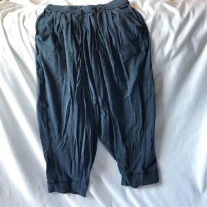 lululemon athletica Pants - Navy blue lululemon soft jogger crop w pockets