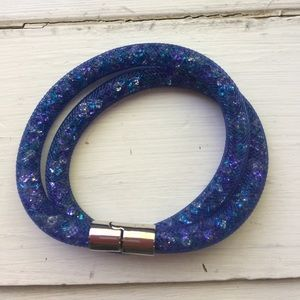 Swarovski Jewelry - NWOT Swarovski mesh with crystal wrap bracelet