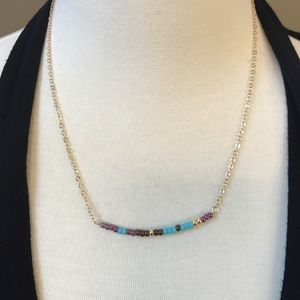 Function & Fringe Jewelry - 🌺 Delicate turquoise and gemstone bead necklace