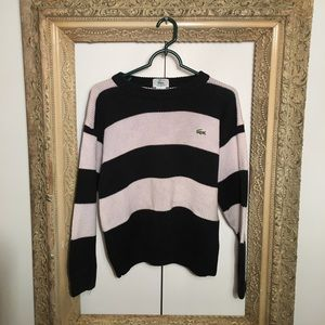 Lacoste Sweaters - Lacoste Stripe Alligator Pullover Crewneck Sweater