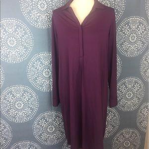 J. Jill Dresses & Skirts - J. Jill Stretch Collared Shirt Dress
