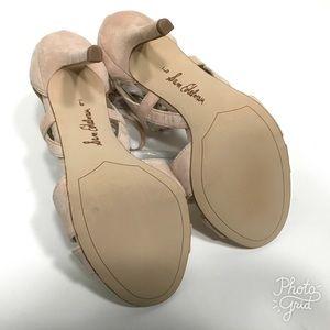 2ef0abdb8c93 Sam Edelman Shoes - Sam Edelman Azela Nude Leather Tassel Heels C19