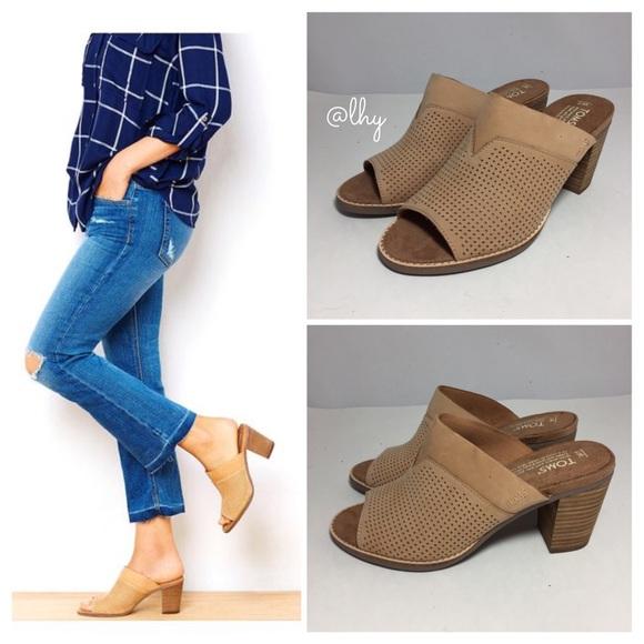 5221f5d26d9 TOMS PERFORATED MAJORCA MULES SLIDES SZ 7. M 591f5441620ff72c0d039019.  Other Shoes ...
