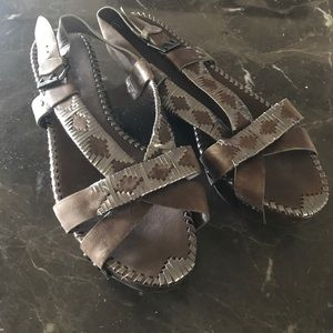 Belle by Sigerson Morrison Shoes - Brown platform sandals