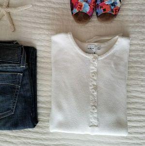 Calvin Klein Jeans Sweaters - Calvin Klein Jeans White Henley Sweater