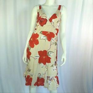 GAP Dresses & Skirts - GAP Red & Purple Floral Cotton Sun Dress