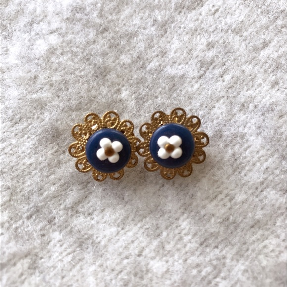 H&M Jewelry - (RESERVED)Navy Earring Set ** Summer Freshness**