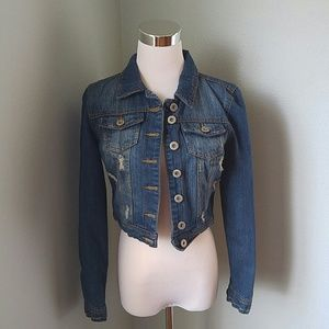 Highway Jeans Jackets & Blazers - Cropped distressed jean jacket