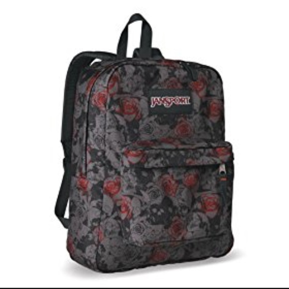 Jansport Handbags - Pre-Loved Skull   Roses Jansport Backpack d48d10bba8d97