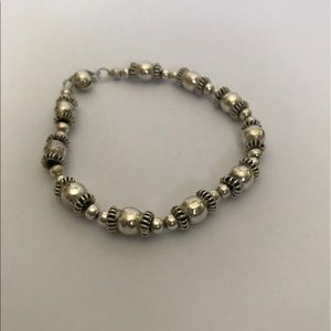 Vintage Jewelry - Antique Beaded Sterling Silver Bracelet